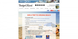 Budget Travel Win a Trip to Virginia Beach Sweepstakes