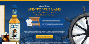 Admiral Nelson's Spin To Win Game