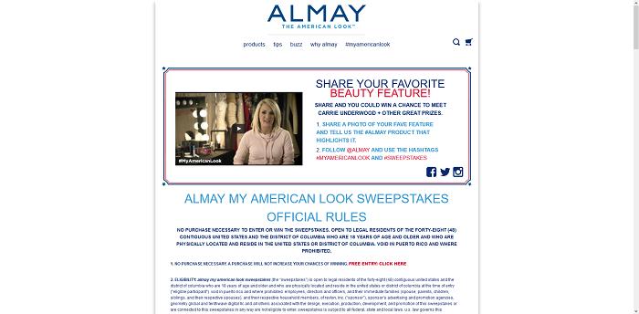Almay.com #MyAmericanLook Sweepstakes