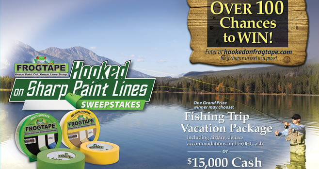 2017 Hooked On FrogTape Sharp Paint Lines Sweepstakes (HookedOnFrogtape.com)