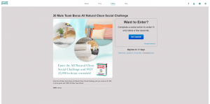 20 Mule Team Borax All Natural Clean Social Challenge Sweepstakes