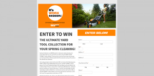2016 It's WORX Season Spring Sweepstakes
