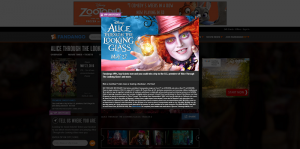 Fandango Alice Through the Looking Glass Sweepstakes