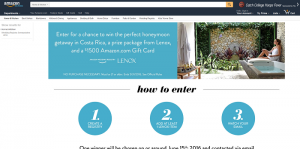 Amazon Wedding Registry and Lenox Sweepstakes