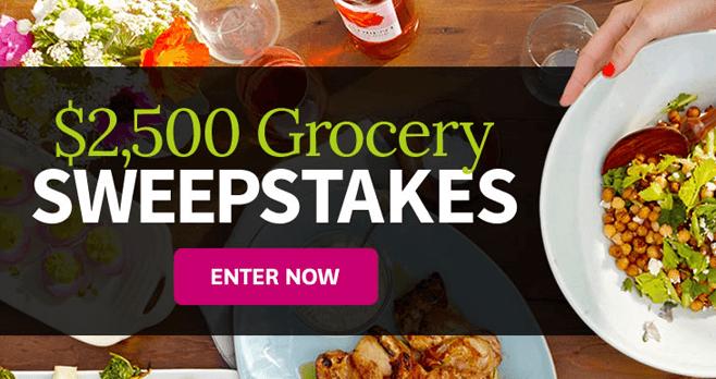 BHG.com $2,500 Grocery Sweepstakes (BHG.com/GrocerySweeps)