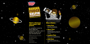 Banana Fudge Bomb Pop Selfie Sweepstakes