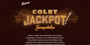 Culver's Colby Jackpot Sweepstakes