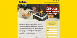 Duraflame Backyard Beach Retreat Giveaway