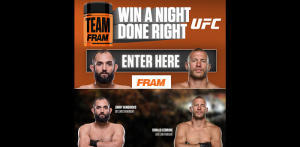 FRAM 2016 Night Done Right Sweepstakes