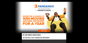 Fandango We Love Movies Sweepstakes