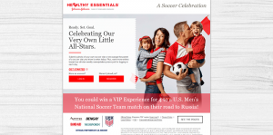 Johnson & Johnson A Soccer Celebration Promotion