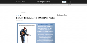 Los Angeles Times I Saw The Light Sweepstakes