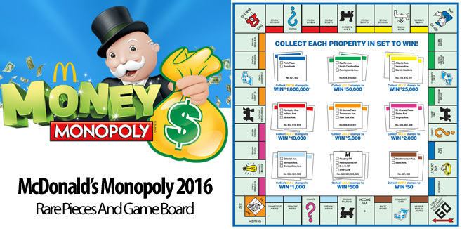 rarest monopoly pieces 2016