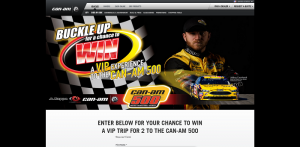 Buckle Up with Can?Am Sweepstakes