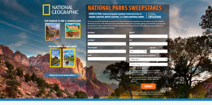 National Geographic National Parks Sweepstakes