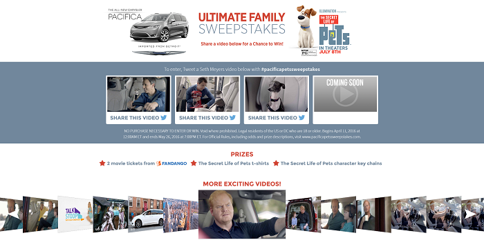 Pacifica Pets Sweepstakes