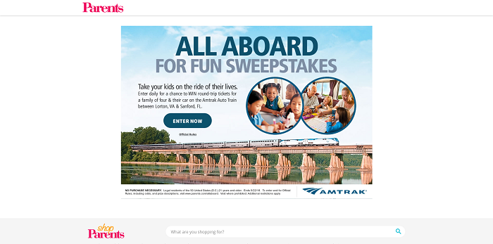 Parents.com All Abroad For Fun Sweepstakes