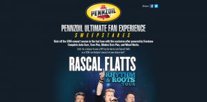 Pennzoil Ultimate Fan Experience Sweepstakes
