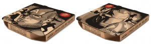 Pizza Hut Captain America Pizza Box