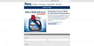 Purex Plus Clorox 2 $100 for 100 Stains Sweepstakes