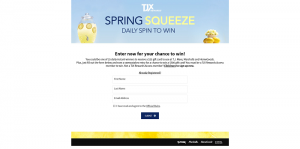TJX Rewards Access Spring Squeeze Sweepstakes