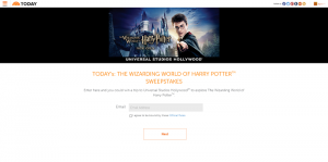 Today's The Wizarding World of Harry Potter Sweepstakes