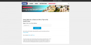 Travel Channel Amalfi Coast Sweepstakes 2016