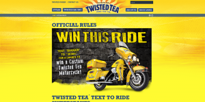 Twisted Tea Text To Ride Sweepstakes