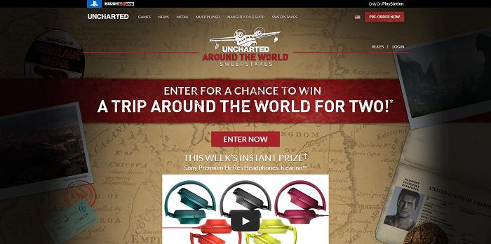 Uncharted 4 Around The World Sweepstakes