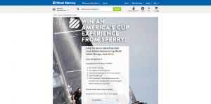 West Marine America's Cup Experience from Sperry Sweepstakes