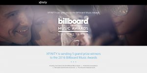 XFINITY 2016 Billboard Music Awards Sweepstakes