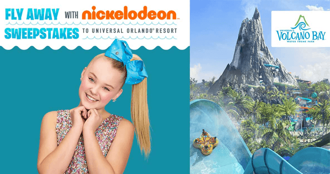 Fly Away With Nickelodeon Sweepstakes 2017 (FlyAwayWithNick.com)