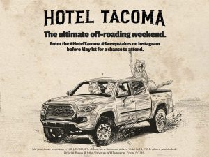 Toyota #HotelTacoma Sweepstakes