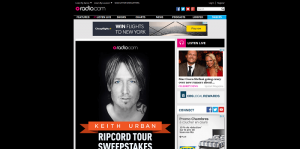Radio.com Keith Urban Ripcord Tour Sweepstakes