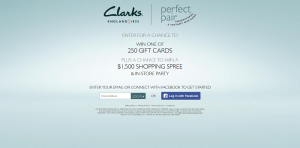 Clarks Perfect Pair Sweepstakes & Instant Win Game
