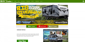 RV Trader Big Outdoor Adventure Giveaway Sweepstakes