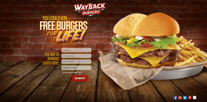 Wayback Burgers Free Burgers for Life Sweepstakes