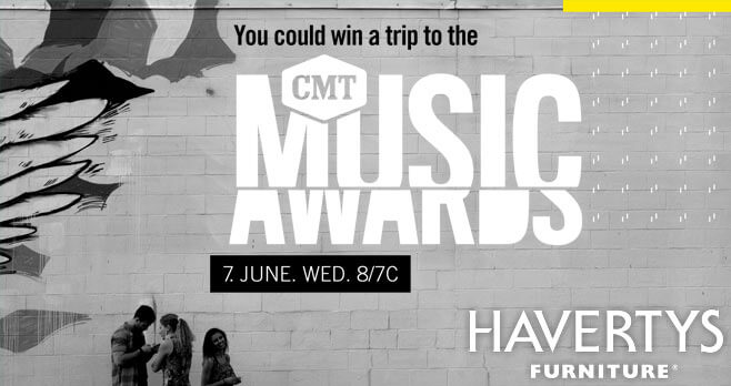 CMT Music Awards Havertys Sweepstakes 2017 (HavertysVIP.com)