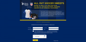 Liberty Mutual Insurance All Out Soccer Sweepstakes