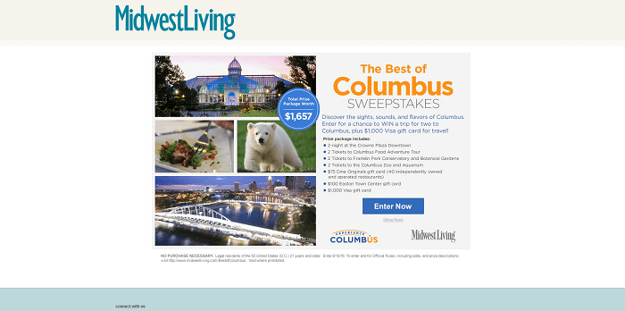 midwestliving.com/BestOfColumbus - Midwest Living Best Of Columbus Sweepstakes