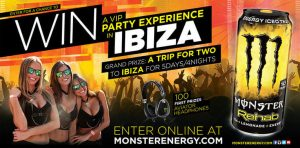 Monster REHAB Chance to Win a VIP Party Experience in Ibiza Sweepstakes