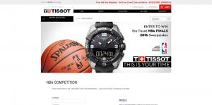 Tissot NBA Finals 2016 Promotion