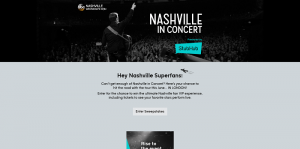 ABC Nashville In Concert Sweepstakes