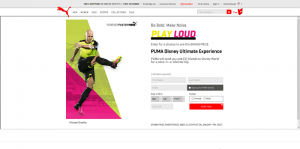 PUMA Disney Ultimate Experience Sweepstakes