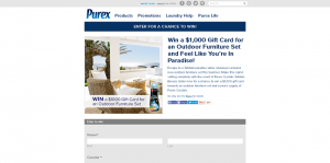 Purex Outdoor Furniture Set Sweepstakes
