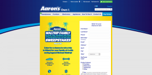 Aaron's Waltrip Family Vacation Sweepstakes
