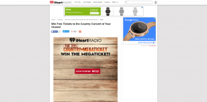 iHeartRadio Win the Live Nation Megaticket Sweepstakes