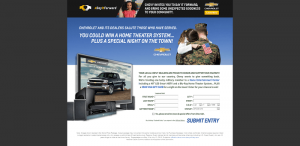 Chevy Military Appreciation Sweepstakes