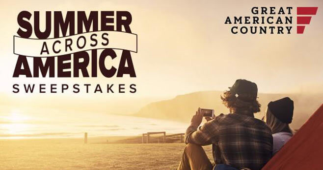 2017 Great American Country Summer Across America Sweepstakes (GACtv.com/Summer)