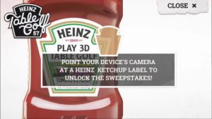 heinz table games sweeps scan